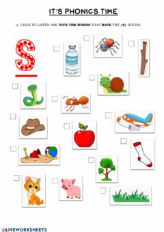 Interactive worksheet Phonics Group 1 (s)