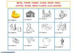 Interactive worksheet What  is it made of?