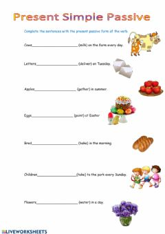 Interactive worksheet Passive simple present