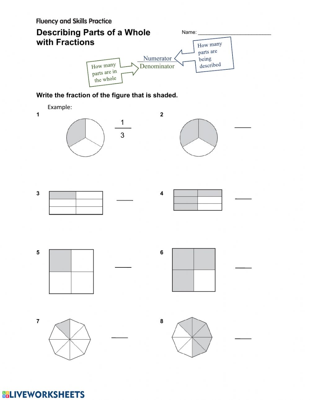 Describing Parts of a Whole with Fractions - Interactive ...