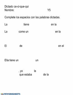Interactive worksheet Ce-ci que-qui