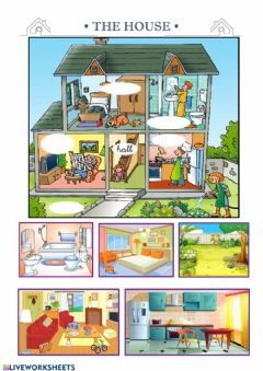 Interactive worksheet Parts of the house I