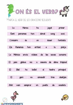 Interactive worksheet On és el verb?