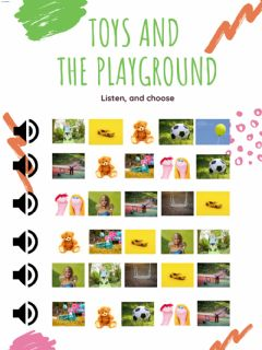 Interactive worksheet Toys and the Playground