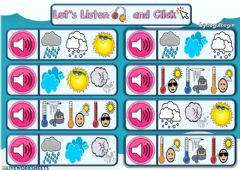 Ficha interactiva 3.9. Weather - Let's Listen and Click