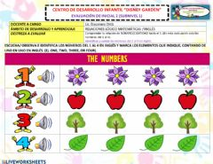 Ficha interactiva The numbers 1 to 4