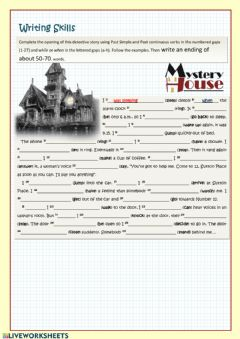 Interactive worksheet A mystery story