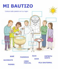 Interactive worksheet Mi bautizo