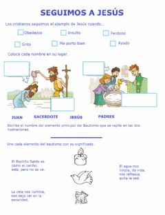 Interactive worksheet Seguimos a Jesús