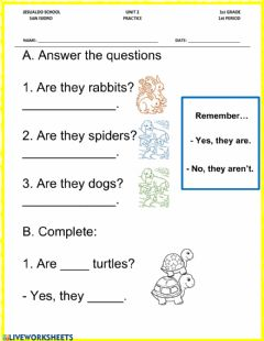 Interactive worksheet What are they?