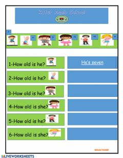 Interactive worksheet How old