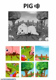 Interactive worksheet Pig puzzle