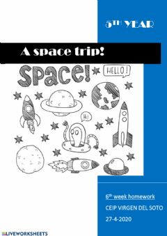 Ficha interactiva Space vocabulary