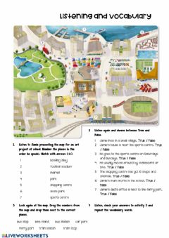 Interactive worksheet Transport listening and vocabulary