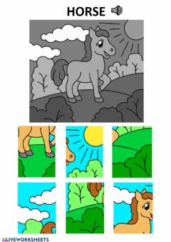 Interactive worksheet Horse puzzle