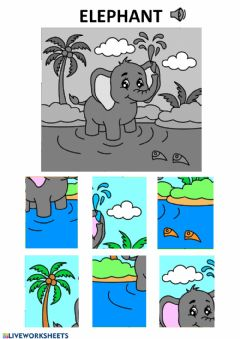 Interactive worksheet Elephant puzzle