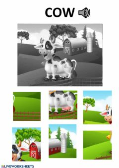 Interactive worksheet Cow puzzle