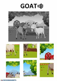 Interactive worksheet goat puzzle
