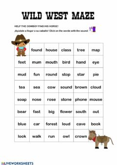 Interactive worksheet Ou-ow words