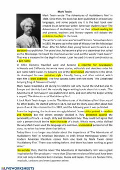 Interactive worksheet Mark Twain