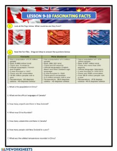 Interactive worksheet Fascinating Facts