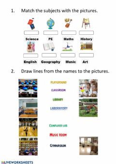 Interactive worksheet Revision -at school vocabulary-