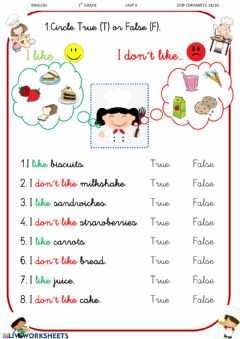 Interactive worksheet Food All about us