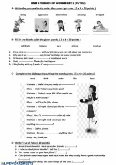 Interactive worksheet 8.sınıf 1.ünite worksheets1