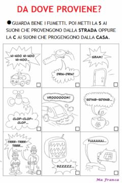 Interactive worksheet Da dove proviene