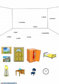 Interactive worksheet My bedroom