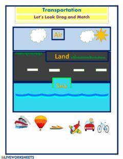 Interactive worksheet Forms of Transportation