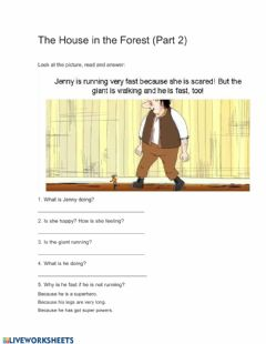 Ficha interactiva The house in the forest - part 2