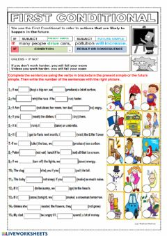 Interactive worksheet 1st conditional