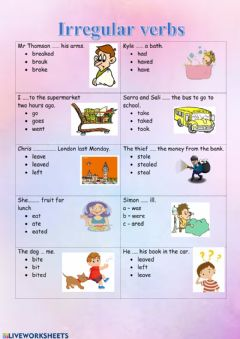 Interactive worksheet Irregular verbs