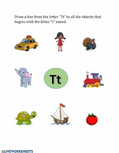 Interactive worksheet Letters and sound