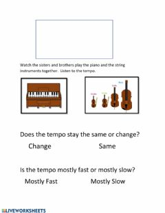 Interactive worksheet Listening for Tempo