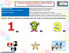 Ficha interactiva The numbers 1 to 3
