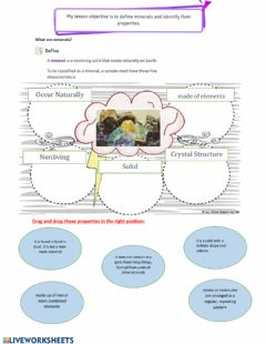 Interactive worksheet minerals
