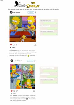 Ficha interactiva The simpsons