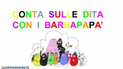 Interactive worksheet Conta con barbapapa' 2