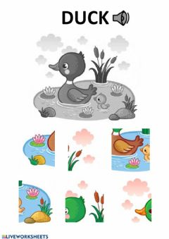 Interactive worksheet Duck puzzle