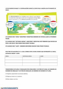 Interactive worksheet Los determinantes.