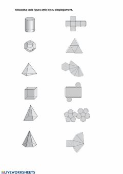 Interactive worksheet Desplegament figures geomètriques