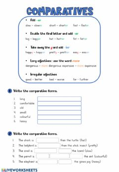 Interactive worksheet Comparatives