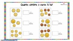 Interactive worksheet Compta monedes