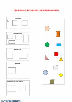 Interactive worksheet I poligoni