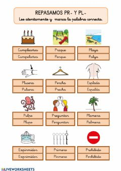 Interactive worksheet Sílabas trabadas