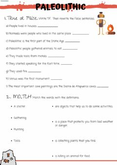 Interactive worksheet Paleolithic