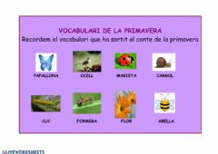 Interactive worksheet Vocabulari de la primavera