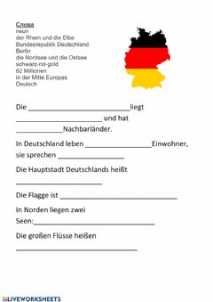 Interactive worksheet Deutschland
